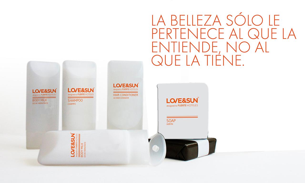 diseño de logotipo e imagen de marca love&sun - AN Publicidad Málaga