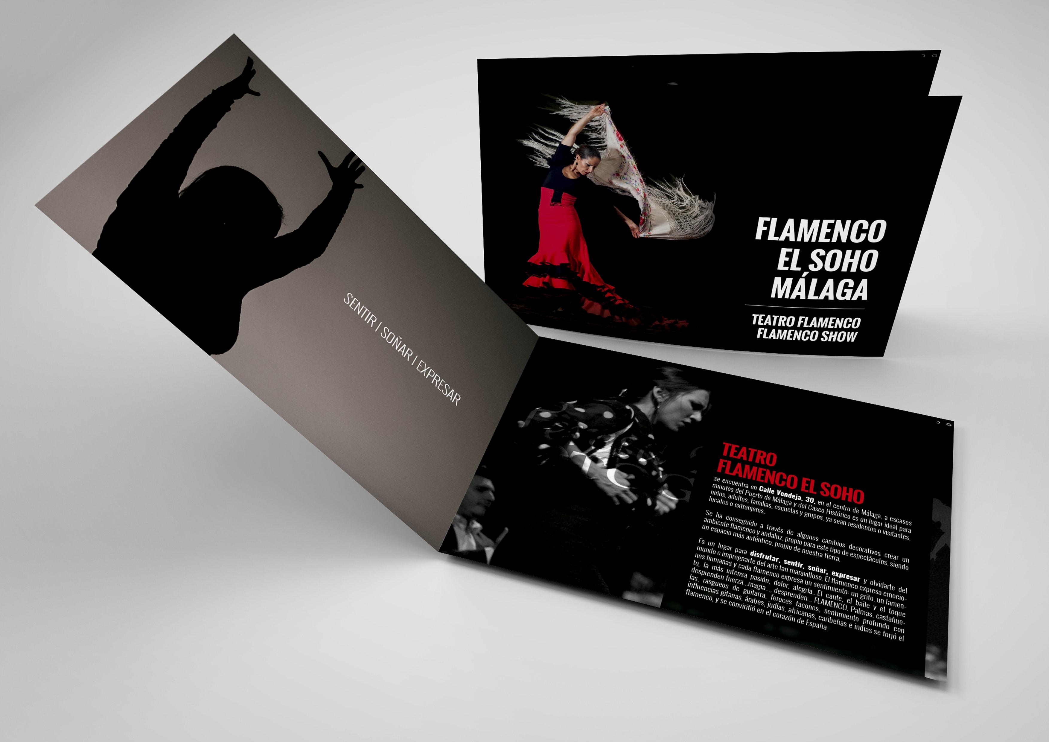 diseño Tablao el Soho, dossier informativo by An Publicidad