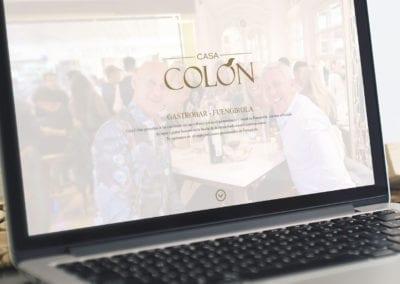 página web Casa Colón