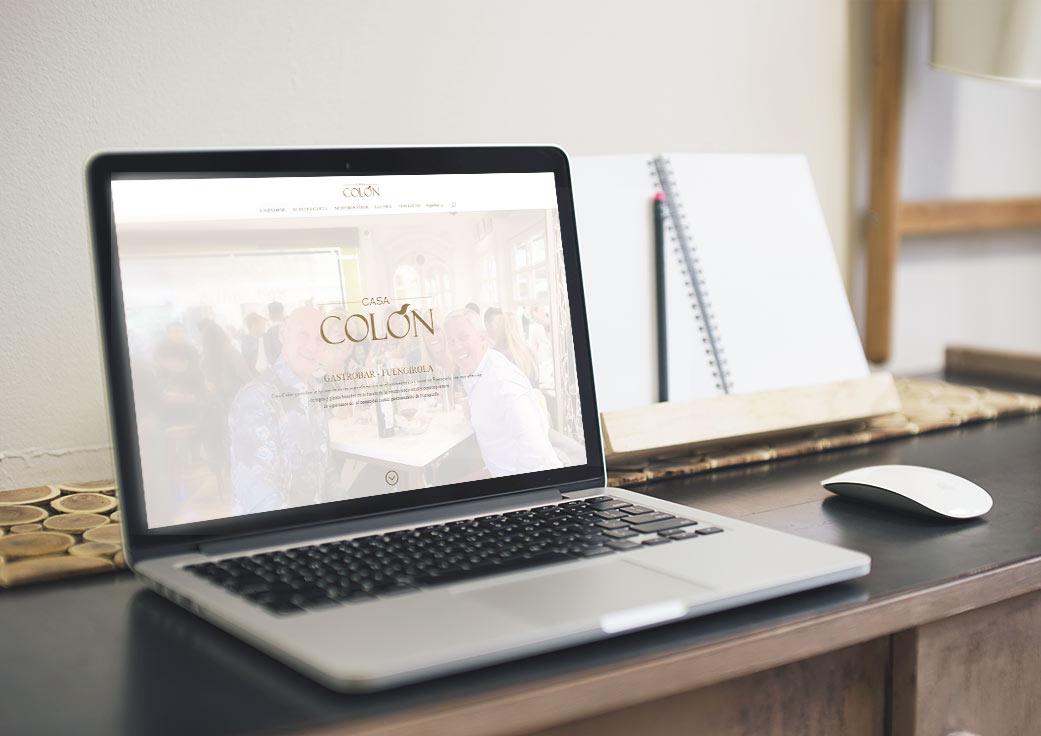diseño página web de Anpublicidad para Casa Colón
