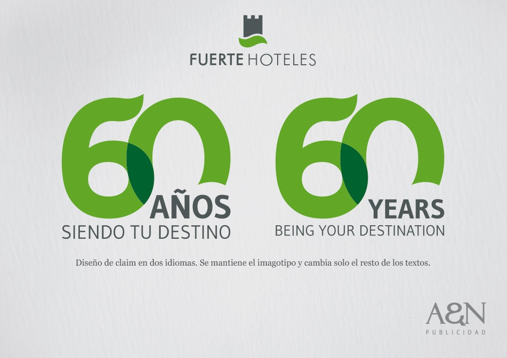 Claim y logo de campaña 60 aniversario by Anpublicidad