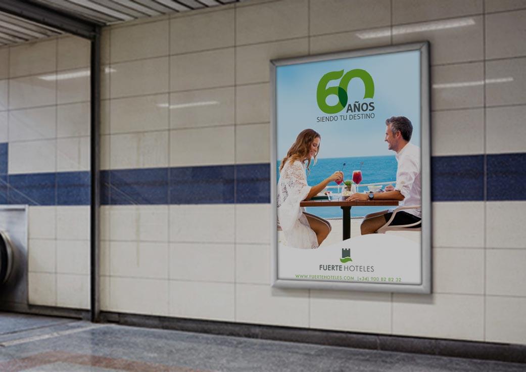 Diseño y contratación de campaña branding en Ave y Metro Madrid by Anpublicidad