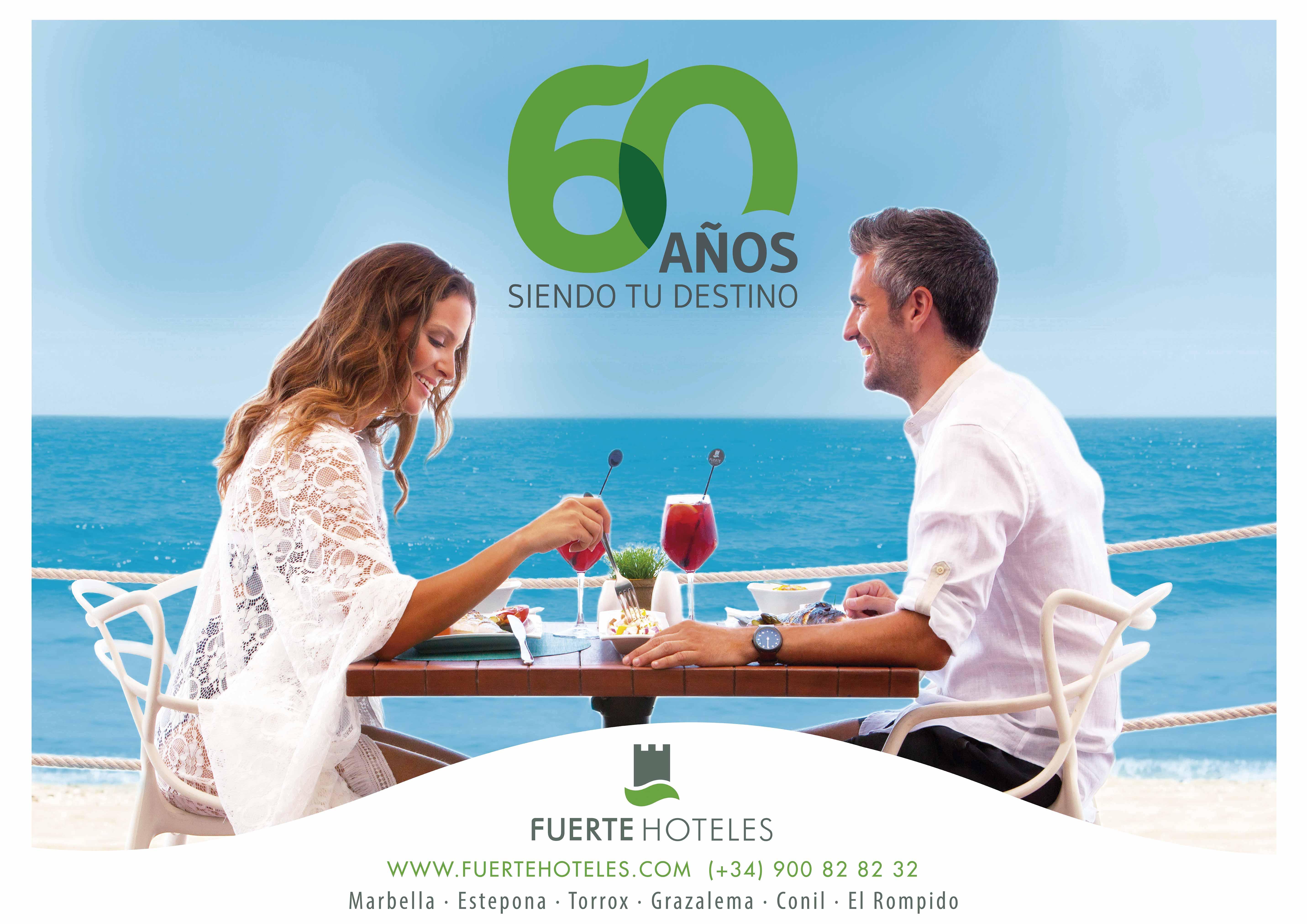 Diseño campaña branding 60 aniversario Fuerte Hoteles by Anpublicidad