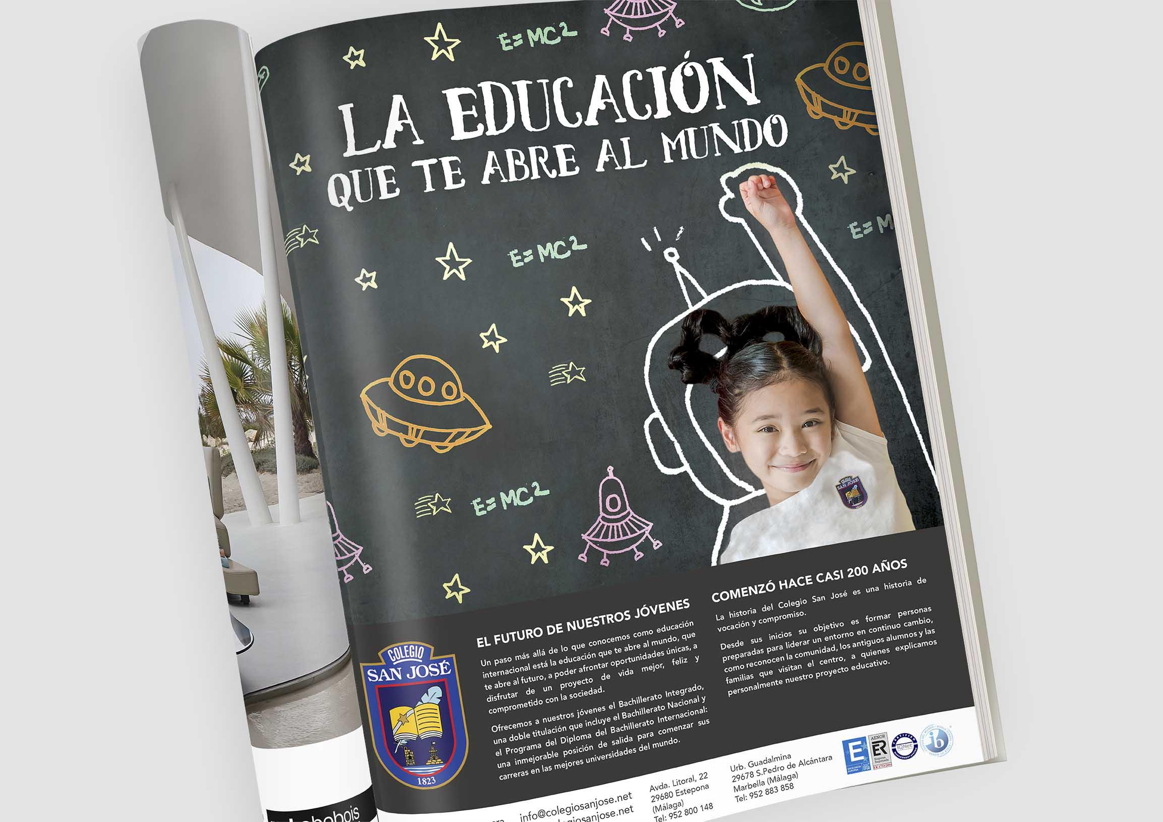 Creatividad y diseño para campaña Bachillerato Internacional by Anpublicidad Fuengirola