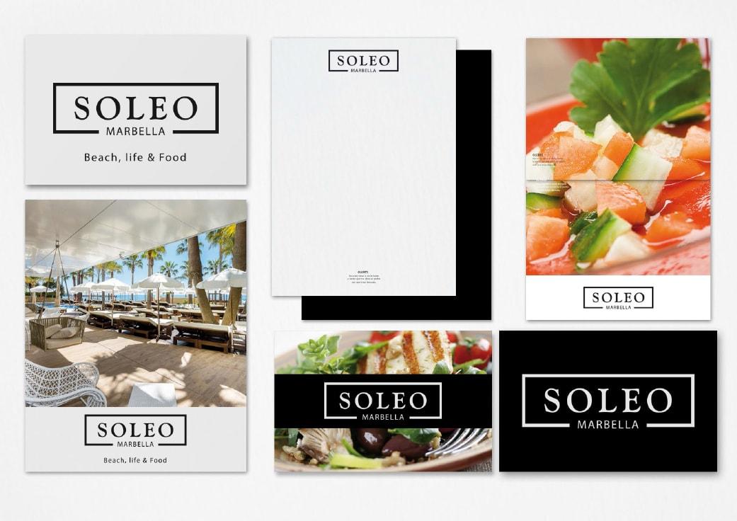 Creación de marca para Restaurante Soleo by Anpublicidad
