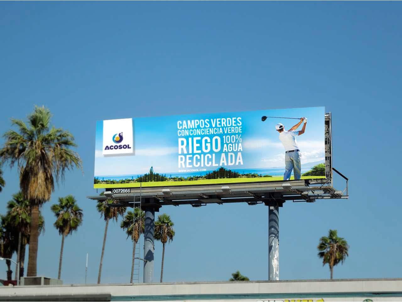 Campaña Acosol Agua Reciclada por Anpublicidad - Fuengirola