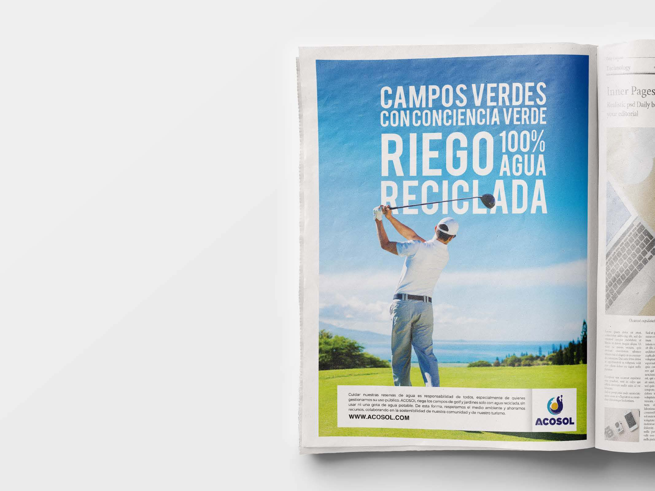 Campaña Agua Reciclada por  Anpublicidad - Fuengirola