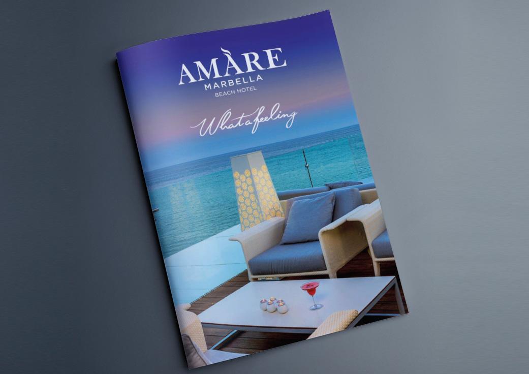 Diseño de directorio de hotel Amare