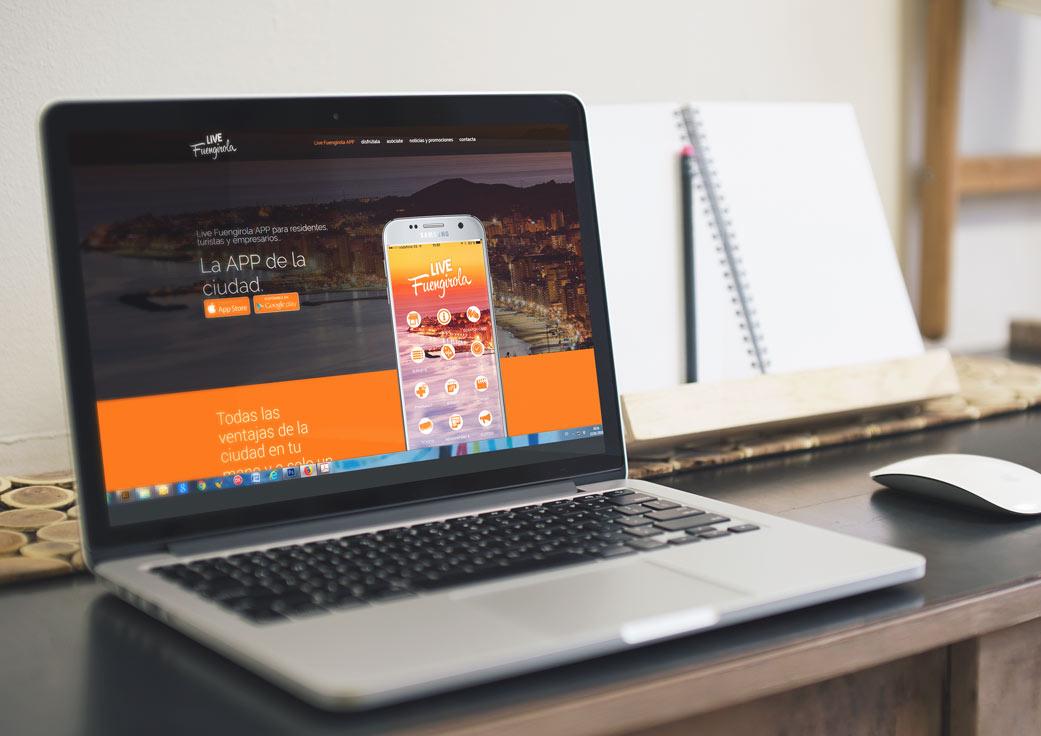 Diseño web Live Fuengirola por An Publicidad - Agencia publicidad Fuengirola