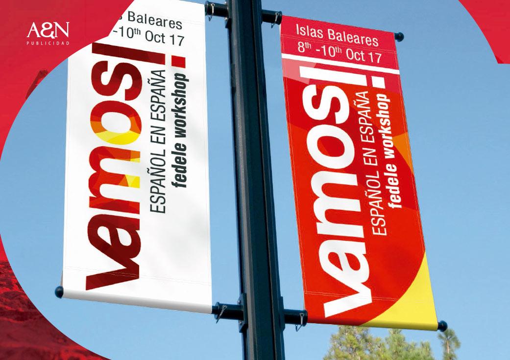 Diseño logotipo Vamos - An Publicidad Agencia publicidad Málaga