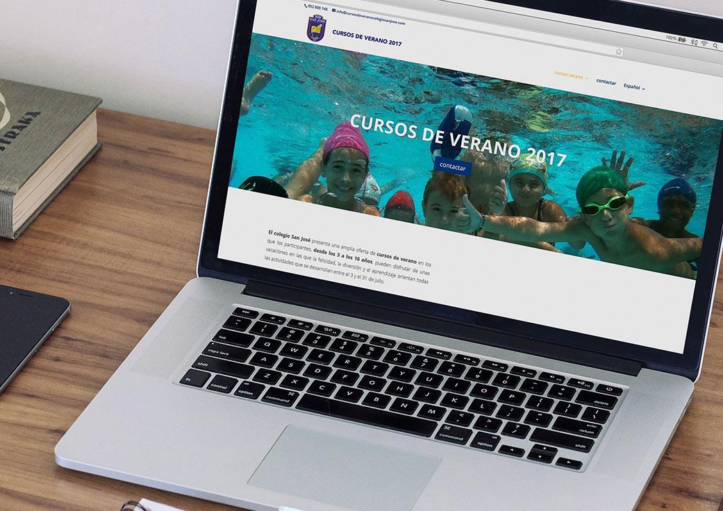 Diseño web cursos de verano by Anpublicidad