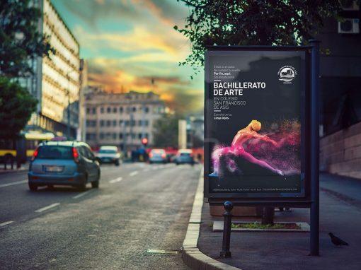 Campaña publicidad Bachillerato de arte