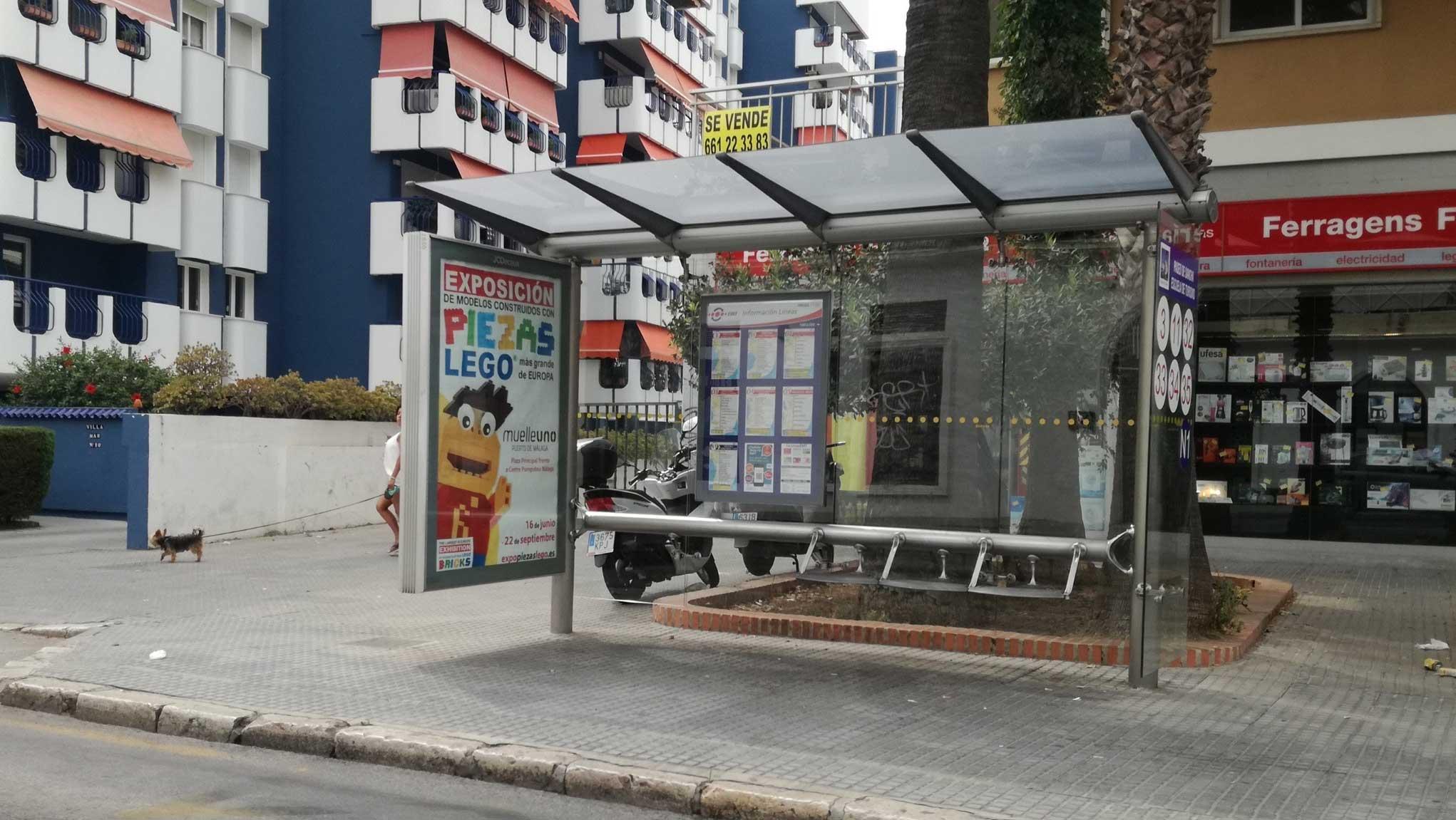 Publicidad exterior exposición lego