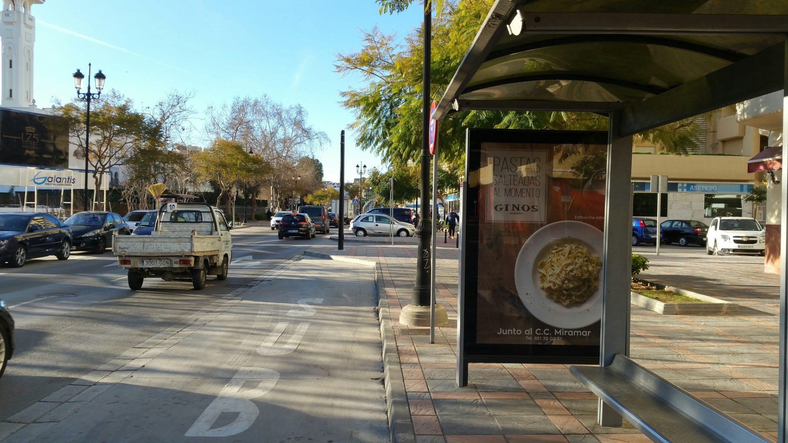 publicidad exterior para Ginos by AN Publicidad
