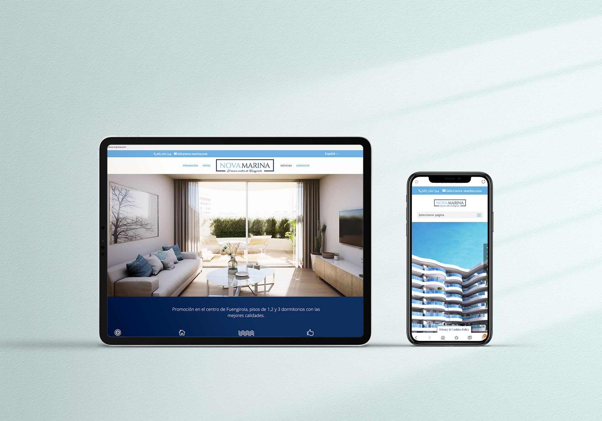 Diseño gráfico web Nova Marina  by ANpublicidad
