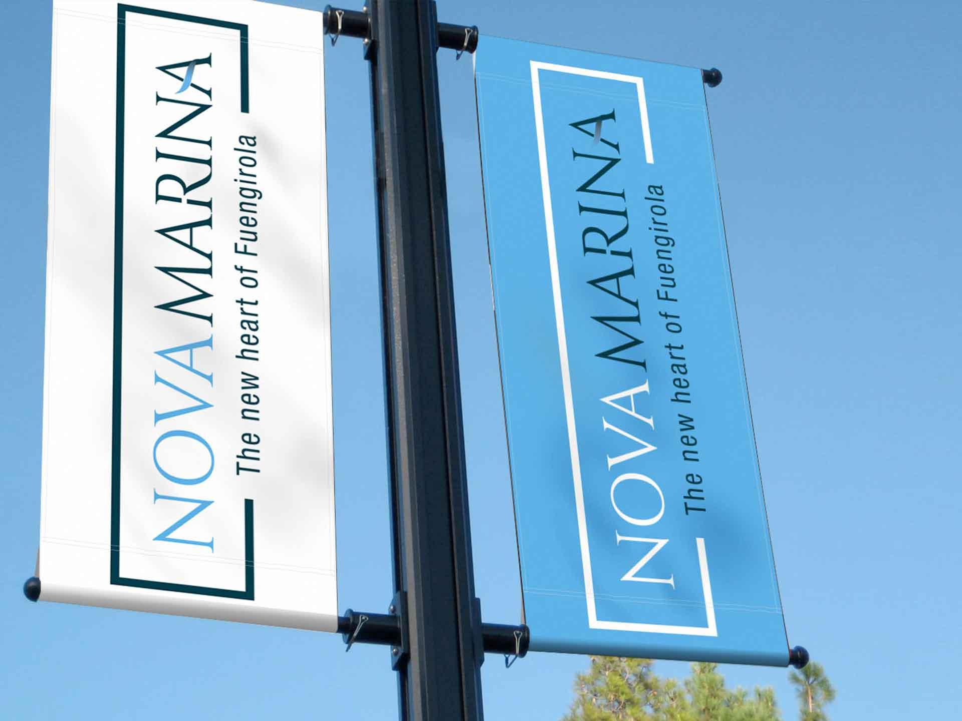 Diseño gráfico Nova Marina - mobiliario urbano