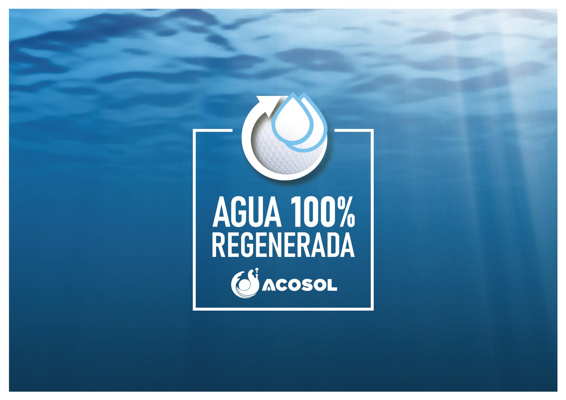 Diseño Imagen Sello Acosol Agua 100% Reciclada
