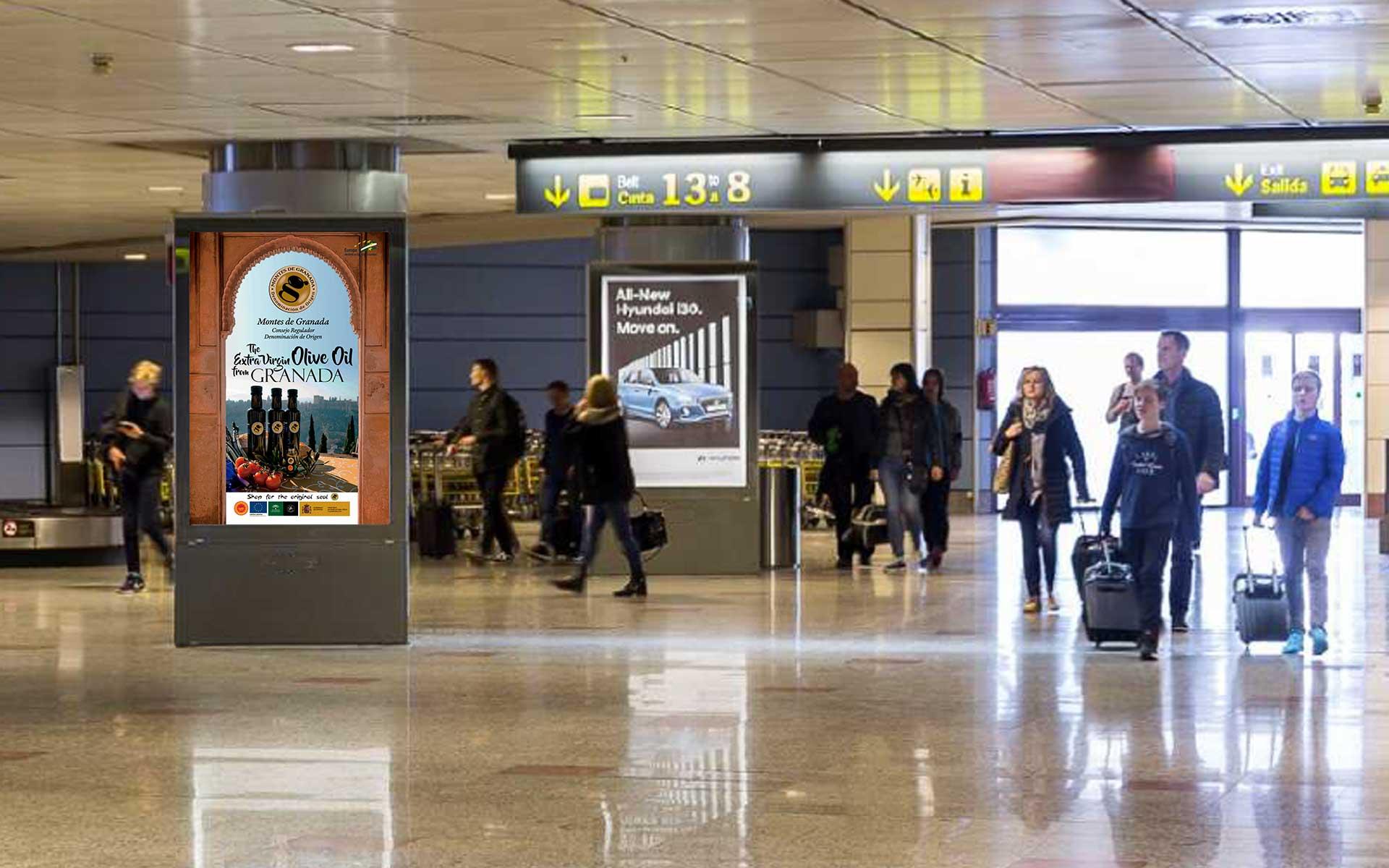 contratación de Mupi en Aeropuerto