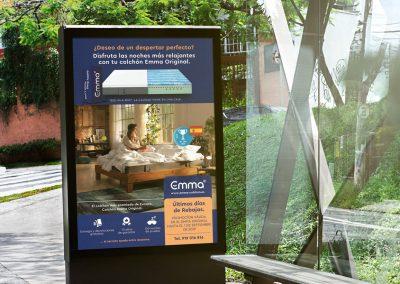 Publicidad exterior para colchones Emma